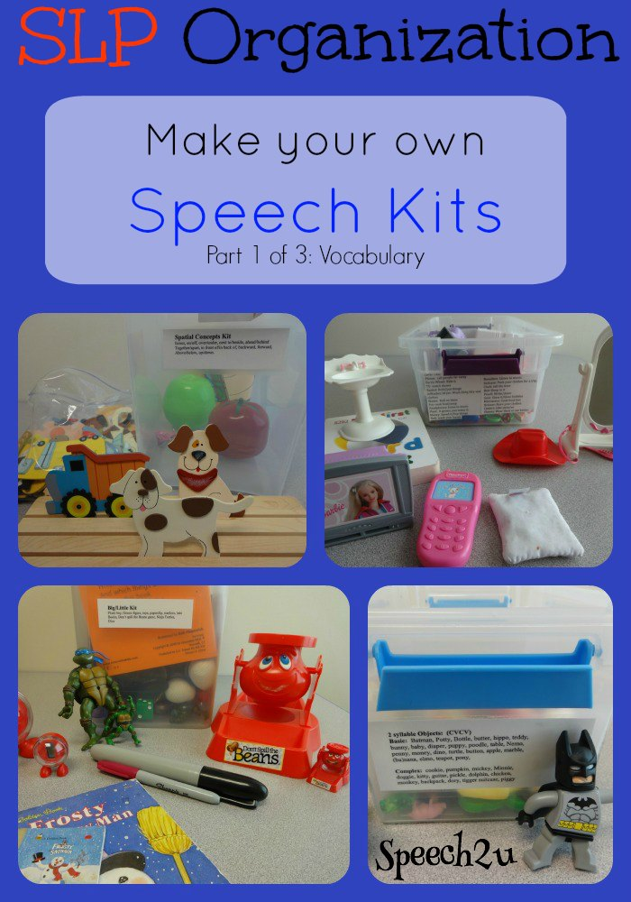 Organization Make Your Own Speech Kits Speech 2u
